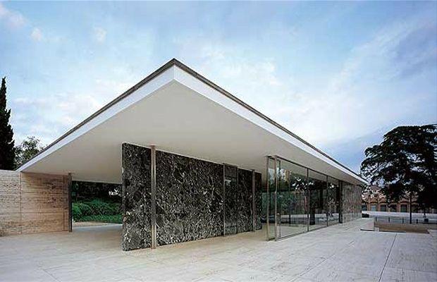 Mies van der rohe pavilion ludwig mies van der rohe - Pavillon residentiel moderne gurney architecte ...