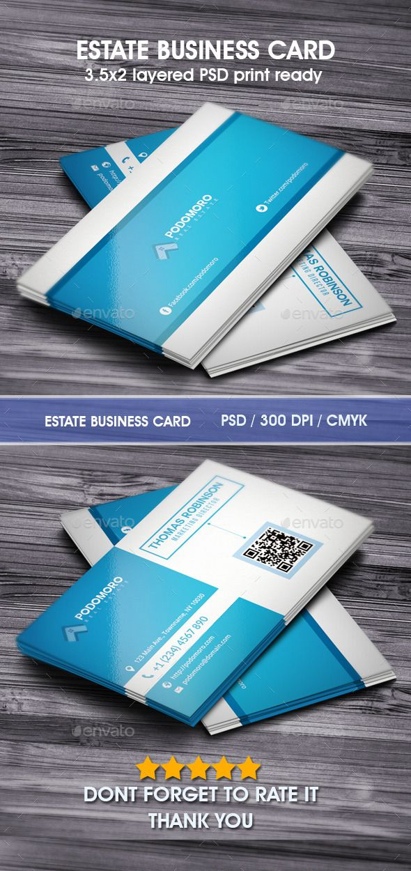 real estate business card | download: http://graphicriver.net/item/estate-business-card/9863913?s_phrase=&s_rank=5