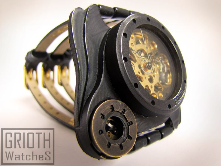 Poison I-VY by GRIOTH Watches. steampunk, gothic watch.