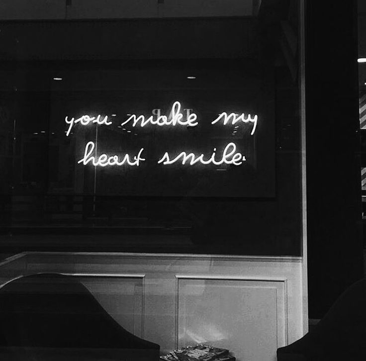 you make my heart smile. #black #lights #quote #heart #love #smile #shine #bnw #you #unicornlife #lalala