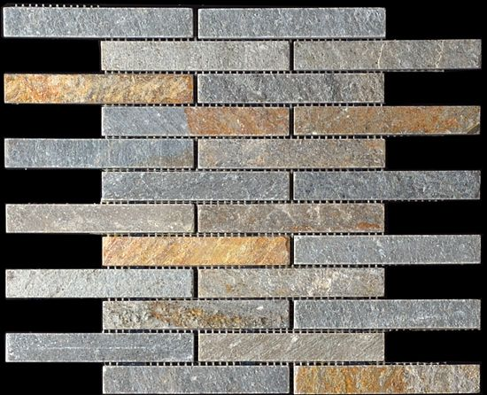 discount glass tile store slate mosaic 1x6 brick pattern golden sand 698