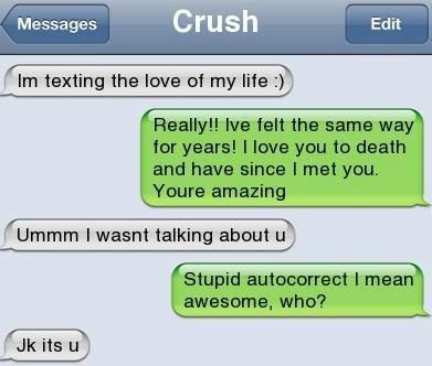 Texting the crush of my life hahaha funny text messages