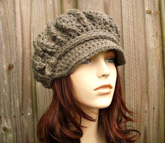 Instant Download Crochet Pattern - Hat Crochet Pattern - Crochet Hat Pattern for Spring Monarch Newsboy or Beret Womens Hat - Fall Fashion on Etsy, $5.00