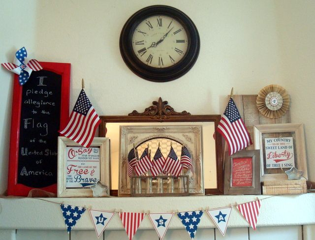 starshine chic decorating on a dime or even less finally my 4th of july - Decorating On A Dime