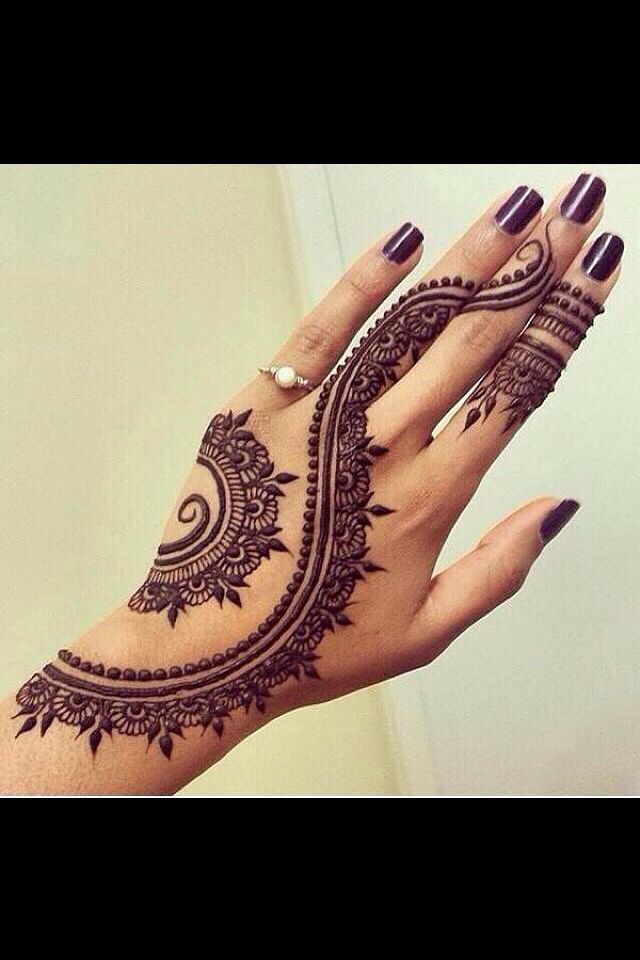 Cute Henna Tattoo Designs: Cute Henna Tattoo♡