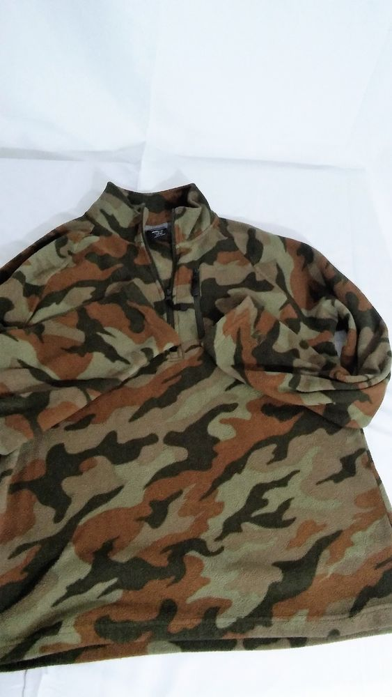 STARTER  Fleece 1/4 Zip Boys YoungMan Jacket, Small (34-36), Camouflage #Starter #FleeceJacket