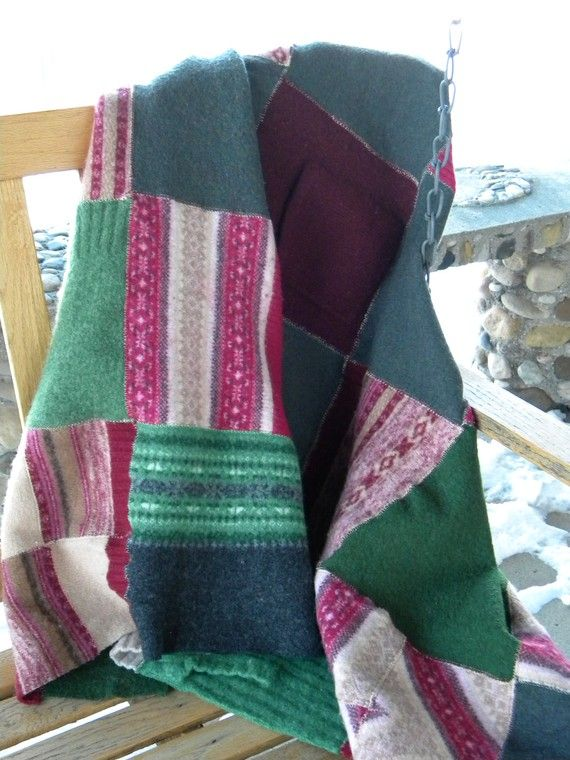 17 Best Images About Sweater Blankets On Pinterest Quilt