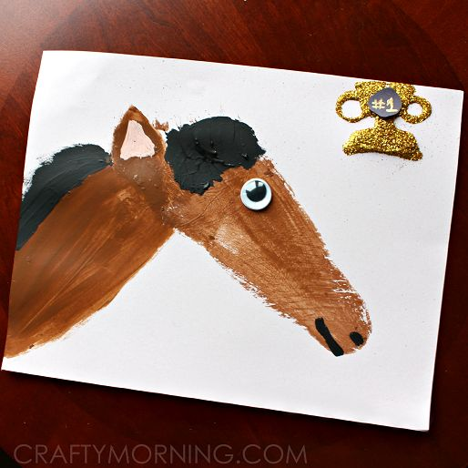 Footprint Horse Craft for Kids to Make - Crafty Morning