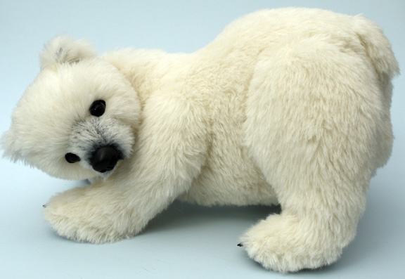 """Teddybuys Artist Teddy Bears: Gallery - """"Pakak"""" an award winning amazing realistic polar bear by Sue Jennings.  I am delighted to have him in my hug!  (photo courtely of Sue)"""