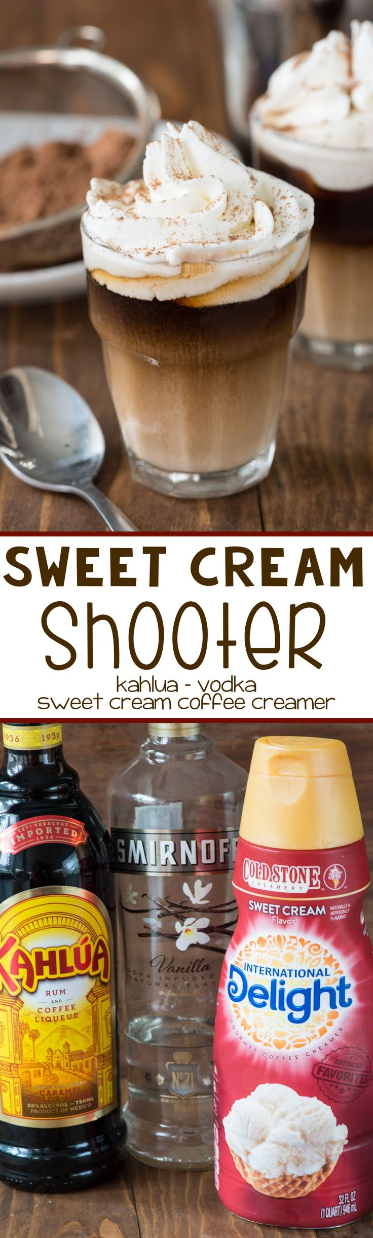 Sweet Cream Shooter - this is the perfect after dinner drink recipe! Only 3 ingredients it's great for dessert!