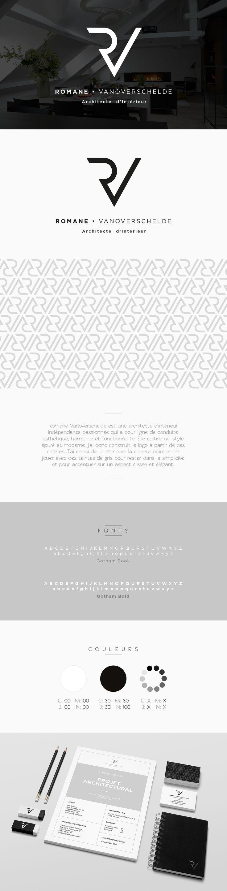 Romane • Architecte d'Intérieur #logo #identity #branding
