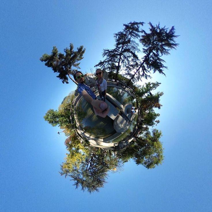 Cool park in Santiago  #tinyplanet #rollworld #theta360 #theta360official #littleplanet #photoshpere #livingplanetapp #ricohtheta #360camera #smallworld #spherical #roundworlds #tinyplanetbuff #360panorama #360photography #ricohtheta360 #webstapick
