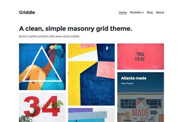 Themes: Precrafted - Griddle – WordPress Portfolio Theme