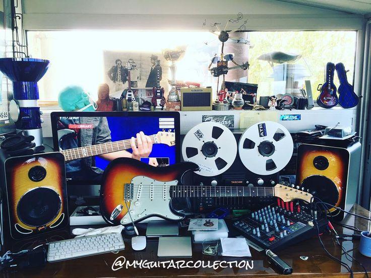My #homestudio #Fender #stratocaster  #sunburst  #Lseries of 1962  #fenderposts #fenderofinstagram #vintagefender #vintagefenderstratocaster #strat #62sfender #1962stratocaster #fenderstratocaster #Lserie #guitardealer #woodstore #paris #france by myguitarcollection