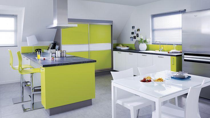 13 best cuisines design images on pinterest budget kitchen ideas and kitchen modern. Black Bedroom Furniture Sets. Home Design Ideas