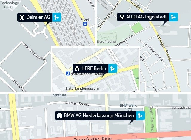 Three #German automakers -- #BMW, #Audi and #Daimler -- have teamed up to buy #Nokia's digital #HERE mapping service for €2.8 billion.