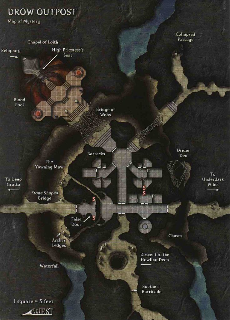 Drow Outpost 484 best Map images on