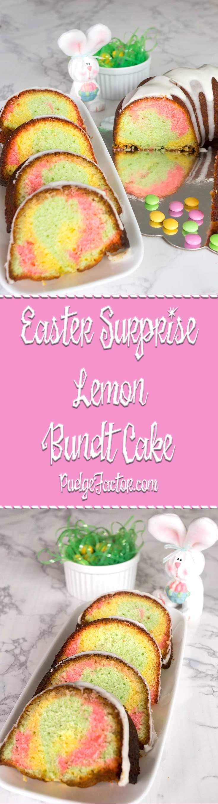 Brighten your Easter season with this rich and moist Easter Surprise Lemon Bundt Cake. It feels like springtime, and tastes amazing. via @c2king