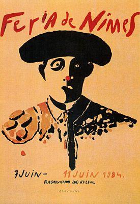 Féria de Nîmes - Affiche 1984 - Artiste Eduardo Arroyo