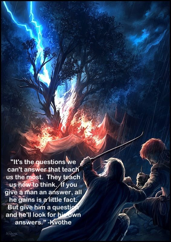 Professor Elodin is full of wisdom. The Name of the Wind - Patrick Rothfuss.