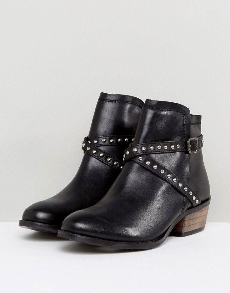 Carvela Heeled Stud Strap Boot - Black