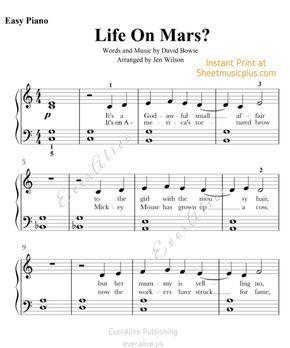 life on mars piano pdf