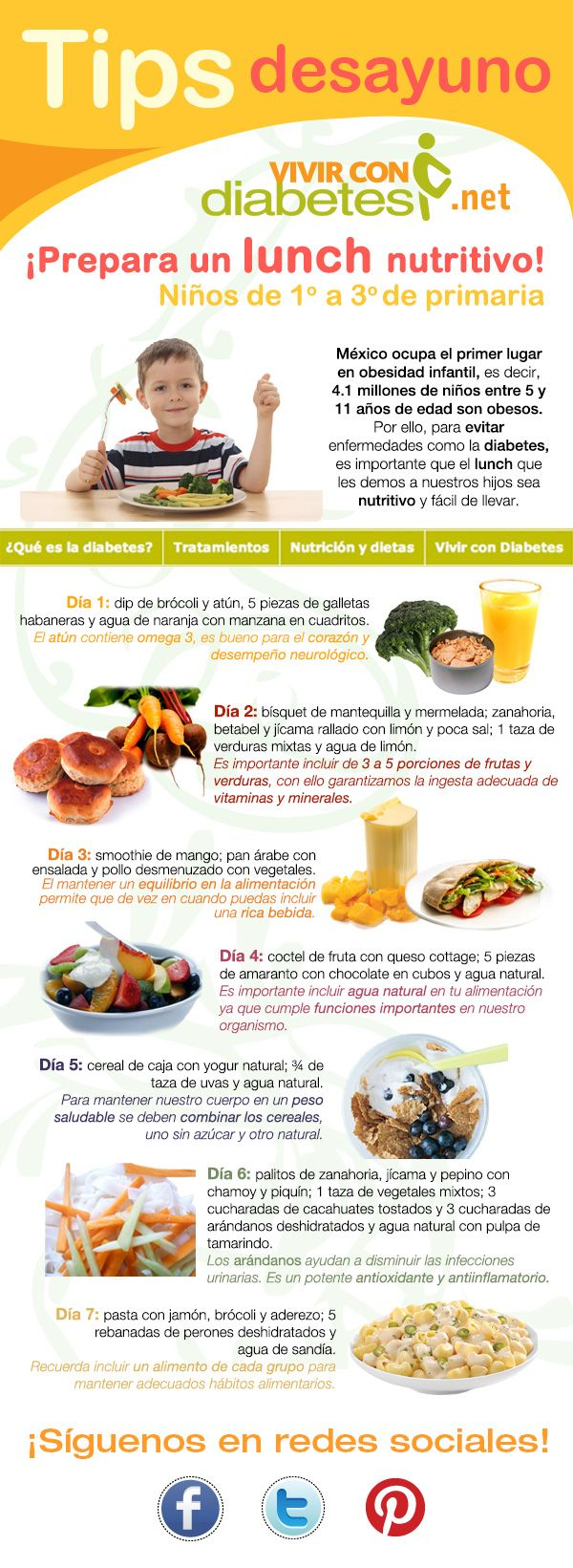 Consejos para preparar un lunch nutritivo. Niños de 1º a 3º de primaria.
