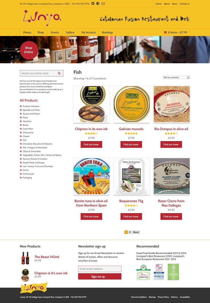 Lunya responsive website design