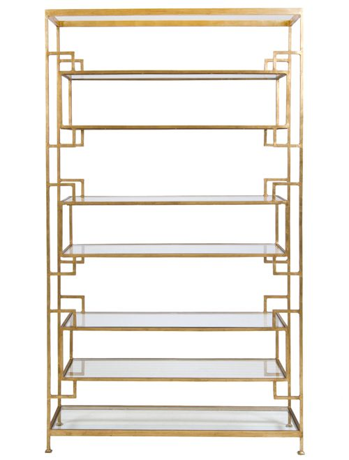 Brass Etagere. This might be the most gorgeous thing I've seen in a while.