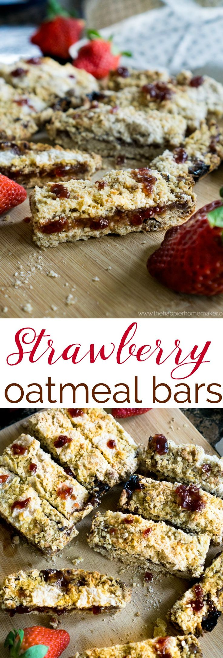 These delicious to make strawberry oatmeal bars are a big hit every time I serve them-so easy even the kids can make them!