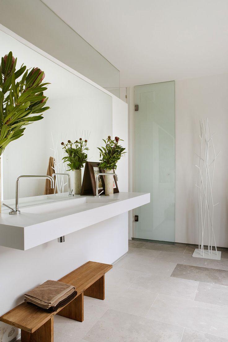 Inspired bathroom blog by diamond interiors vanity basin vanity bench - Trough Sink Bathrooms Decorbathroom Designsbathroom Ideasbathroom Inspirationbathroom Benchbathroom Plantsattic Bathroomvanity