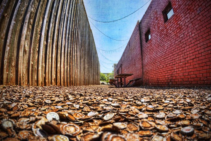 Cap Alley next to the Dixie Chicken in College Station, Texas.