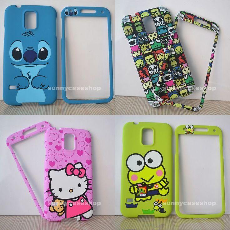 samsung galaxy s5 cute phone cases. cute cat stitch cartoon front back cover case skin for samsung galaxy s5 v i9600 phone cases n