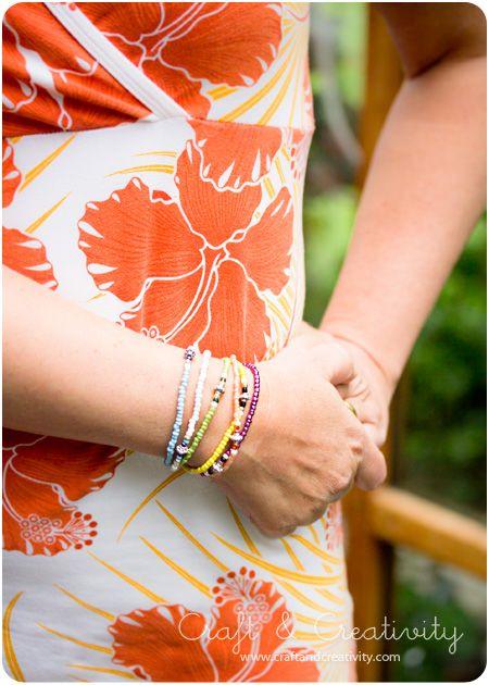 Elastiska pärlarmband – Elastic Bead Bracelets | Craft & Creativity – Pyssel & DIY