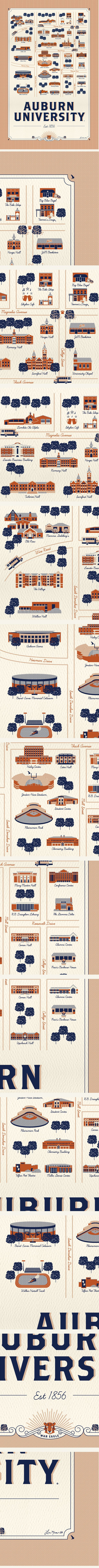 Auburn Map made by an Auburn Grad