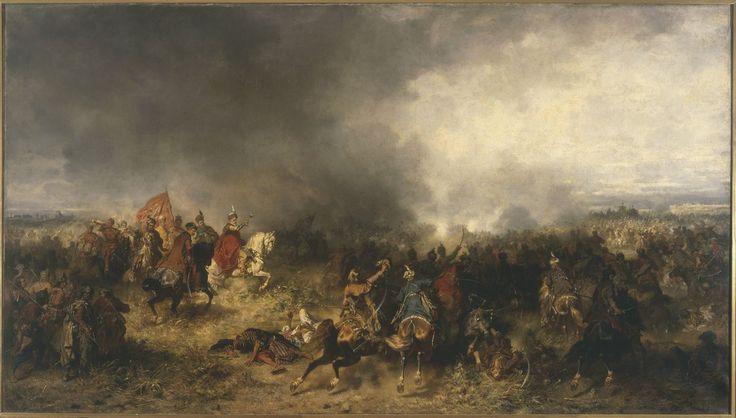 Józef Brandt ( 1841-1915) 🇵🇱🎨    Bitwa pod Chocimiem ; Chodkiewicz pod Chocimiem  1867