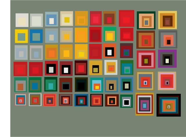 Joseph Albers, color studies