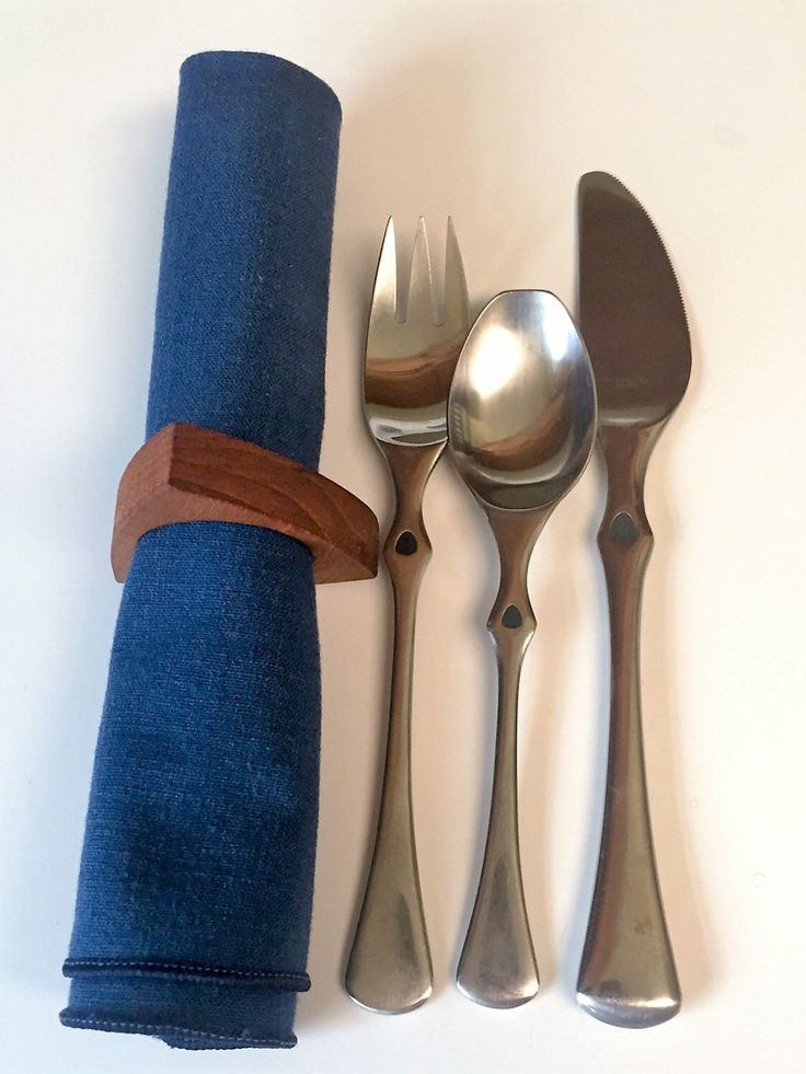 A personal favorite from my Etsy shop https://www.etsy.com/listing/467521836/teak-napkin-rings-scandinavian-dining