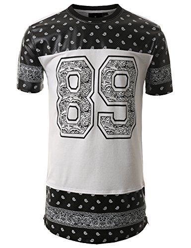 SMITHJAY Hipster Hip-Hop Number 89 Paisley Longline Jersey Shirt WHITE SMALL SMITHJAY http://www.amazon.com/dp/B00LWILNPK/ref=cm_sw_r_pi_dp_86yYtb1AS3SEG2HR