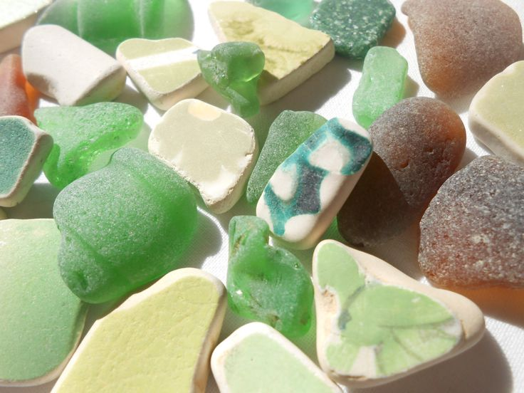 Mix'n'match sea glass and sea pottery lot, Greek sea glass and sea pottery supply by BeniciaSeaglass on Etsy