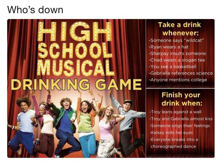 High School Musical Drinking Game