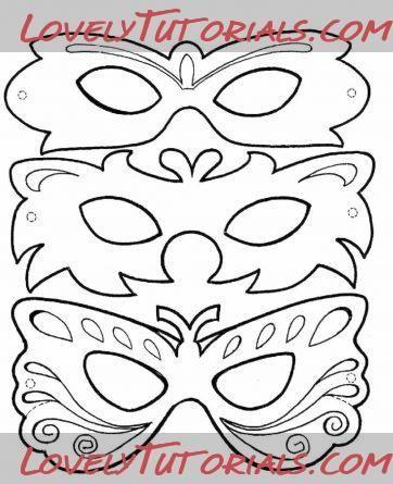 venetian masquerade masks template | Visit lovelytutorials.com