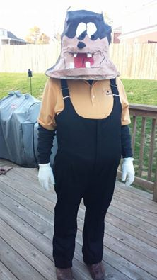 Halloween 2014, Pete from Disney's Mickey Mouse Club House.  Made from #papermache
