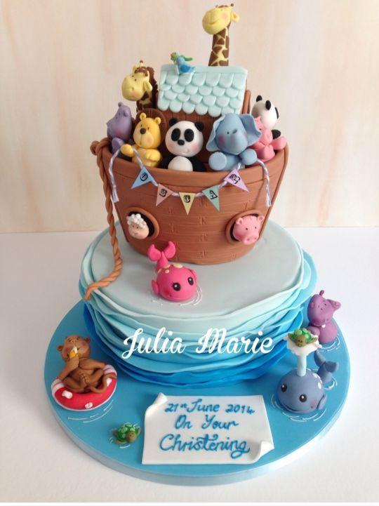 best cake board images on   noah ark, noahs ark cake, Baby shower invitation