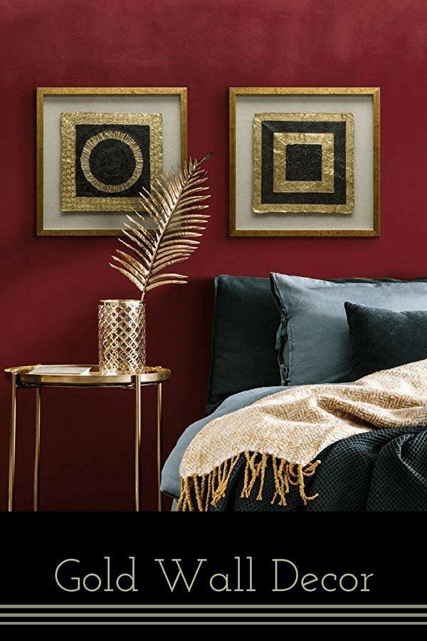 Chic, Posh and Artsy Gold Wall Decor | Cool Home Decor | Pinterest ...