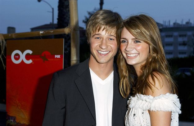 """And posed with Ben who was still working those bangs (RIP Marissa and Ryan): 