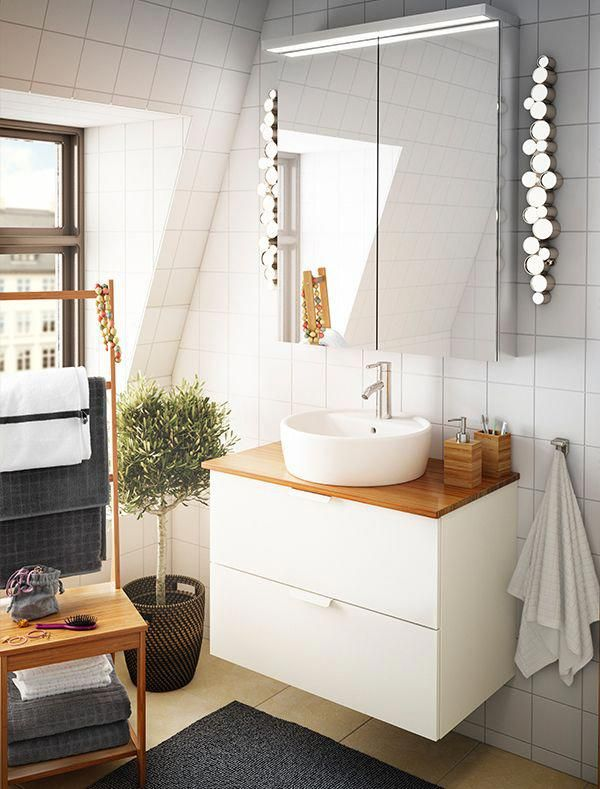 Bejewel Your Bathroom With Ikea Sodersvik Lighting Dimmable Led Lighting Inspired By A Classic Ikea Bathroom Lighting Small Bathroom Vanities Bathroom Vanity