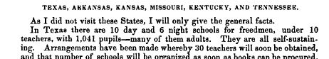 First semi-annual report on schools for freedmen, January 1, 1866