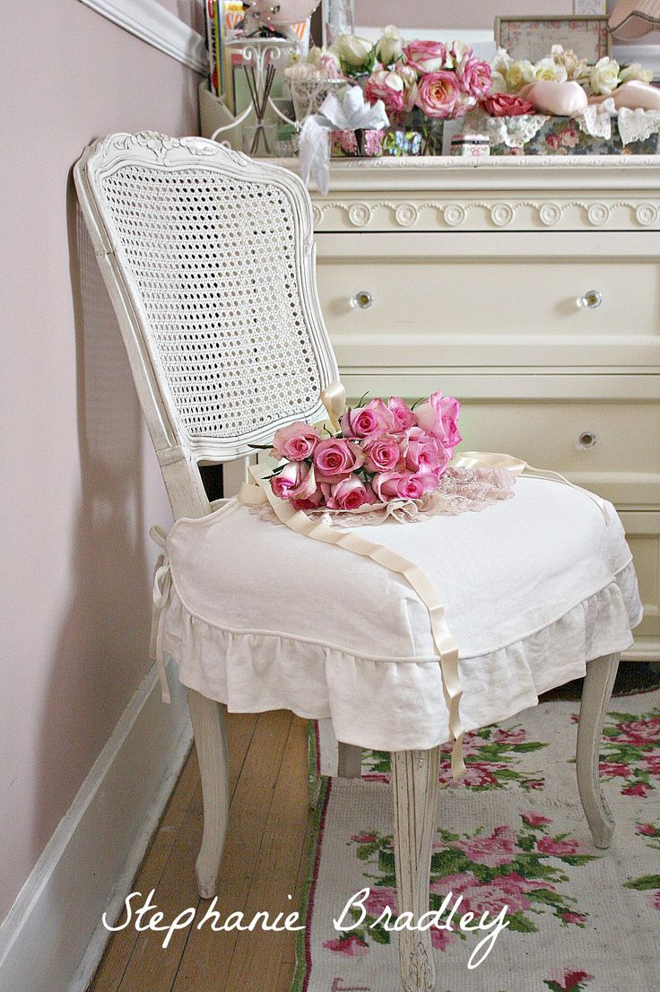 Cozy cottage slipcovers new office chair slipcovers - Gorgeous Chair And Slipcover So Shabby Chic Via Stephanie Bradley