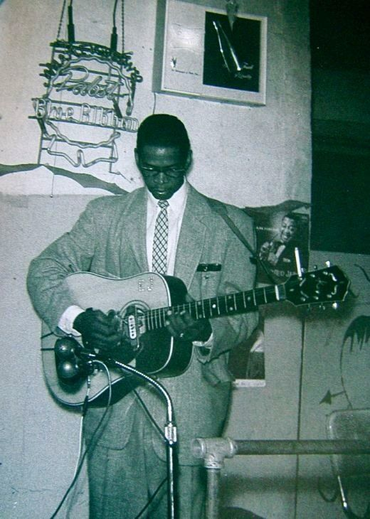 "Elmore James (1918-1963) was a blues guitarist, singer, songwriter and band leader. He was known as ""the King of the Slide Guitar"" and had a unique guitar style, noted for his use of loud amplification and his stirring voice."